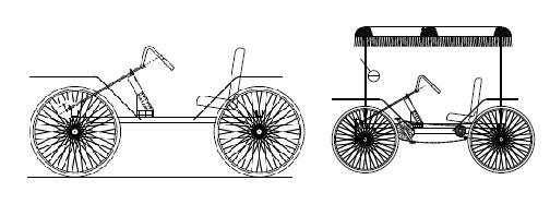 4 wheel cycle pedal car plans homemade