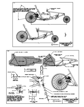 Recumbent bicycle on 36 wide paper